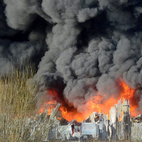 Fire Destroys Stoke-on-Trent Recycling Centre