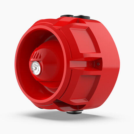 Raptor Addressable Outdoor Sounder & VAD, Red, White Flash