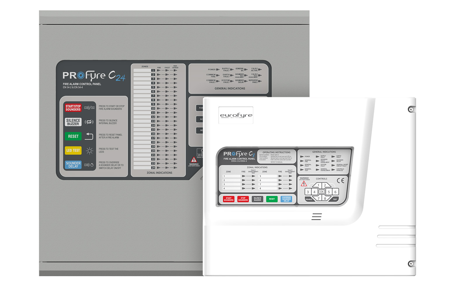 ProFyre C8 and C24 Fire Alarm Control Panels